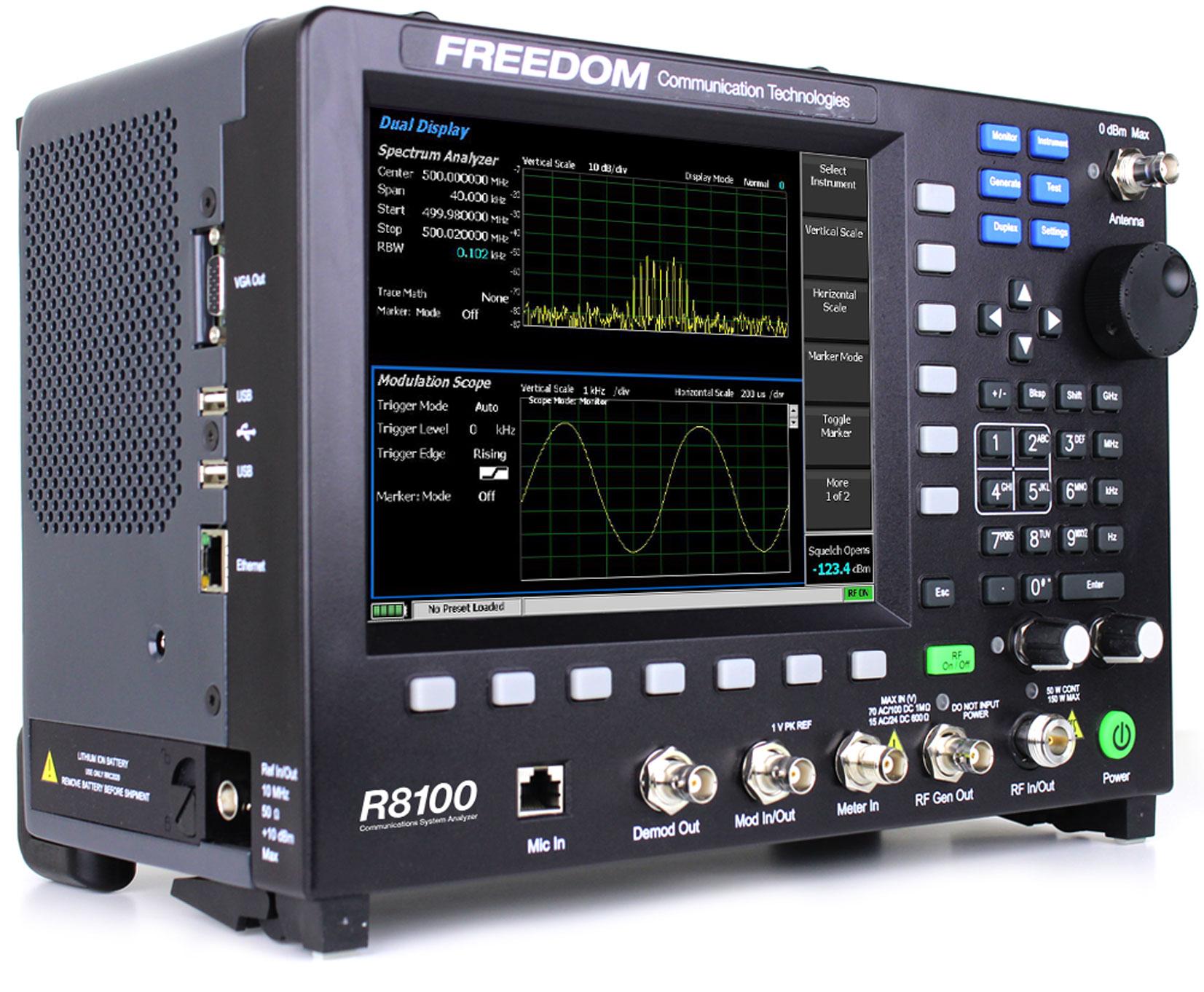 Freedom R8100 Communications System Analyzer Service